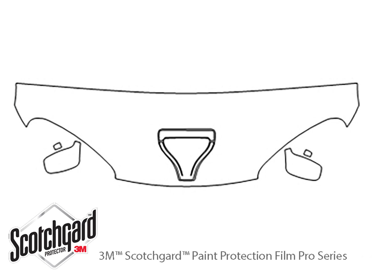 Dodge Viper 1996-2002 3M Clear Bra Hood Paint Protection Kit Diagram