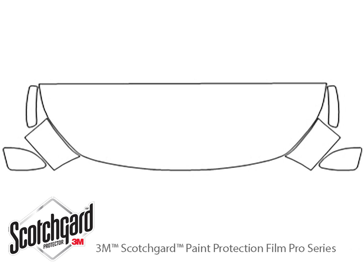 Fiat 124 Spider 2017-2020 3M Clear Bra Hood Paint Protection Kit Diagram