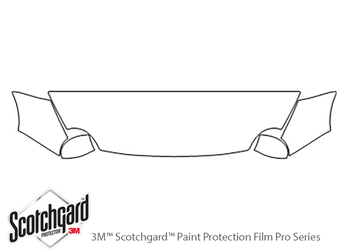 Fiat 500 2012-2017 3M Clear Bra Hood Paint Protection Kit Diagram