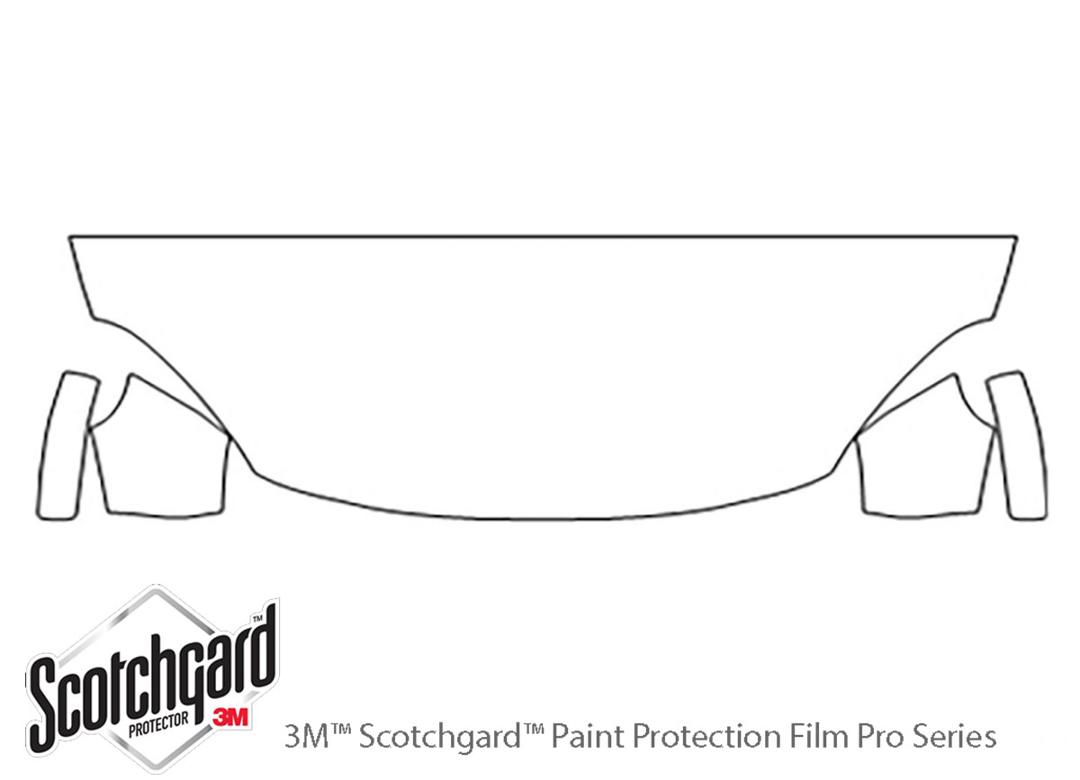 Fiat 500X 2016-2020 3M Clear Bra Hood Paint Protection Kit Diagram