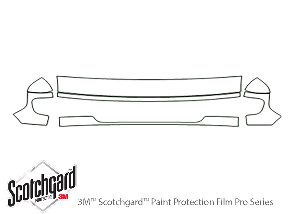 Ford E-150 2003-2007 3M Clear Bra Hood Paint Protection Kit Diagram
