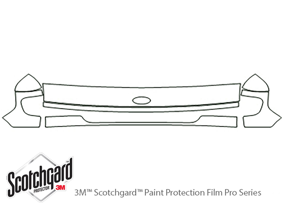 Ford E-350 1997-2002 3M Clear Bra Hood Paint Protection Kit Diagram