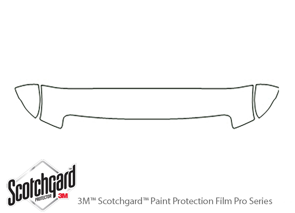 Ford E-350 2008-2014 3M Clear Bra Hood Paint Protection Kit Diagram