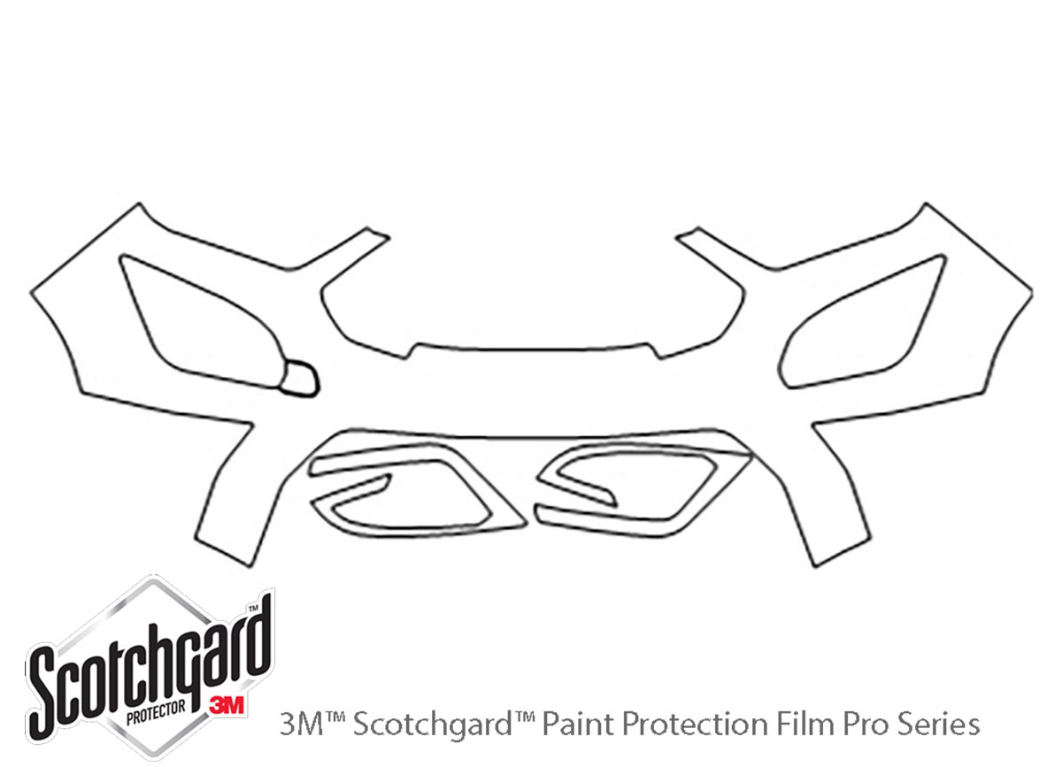 Ford Ecosport 2018-2021 3M Clear Bra Bumper Paint Protection Kit Diagram