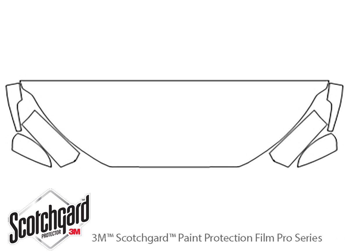 Ford Ecosport 2018-2021 3M Clear Bra Hood Paint Protection Kit Diagram