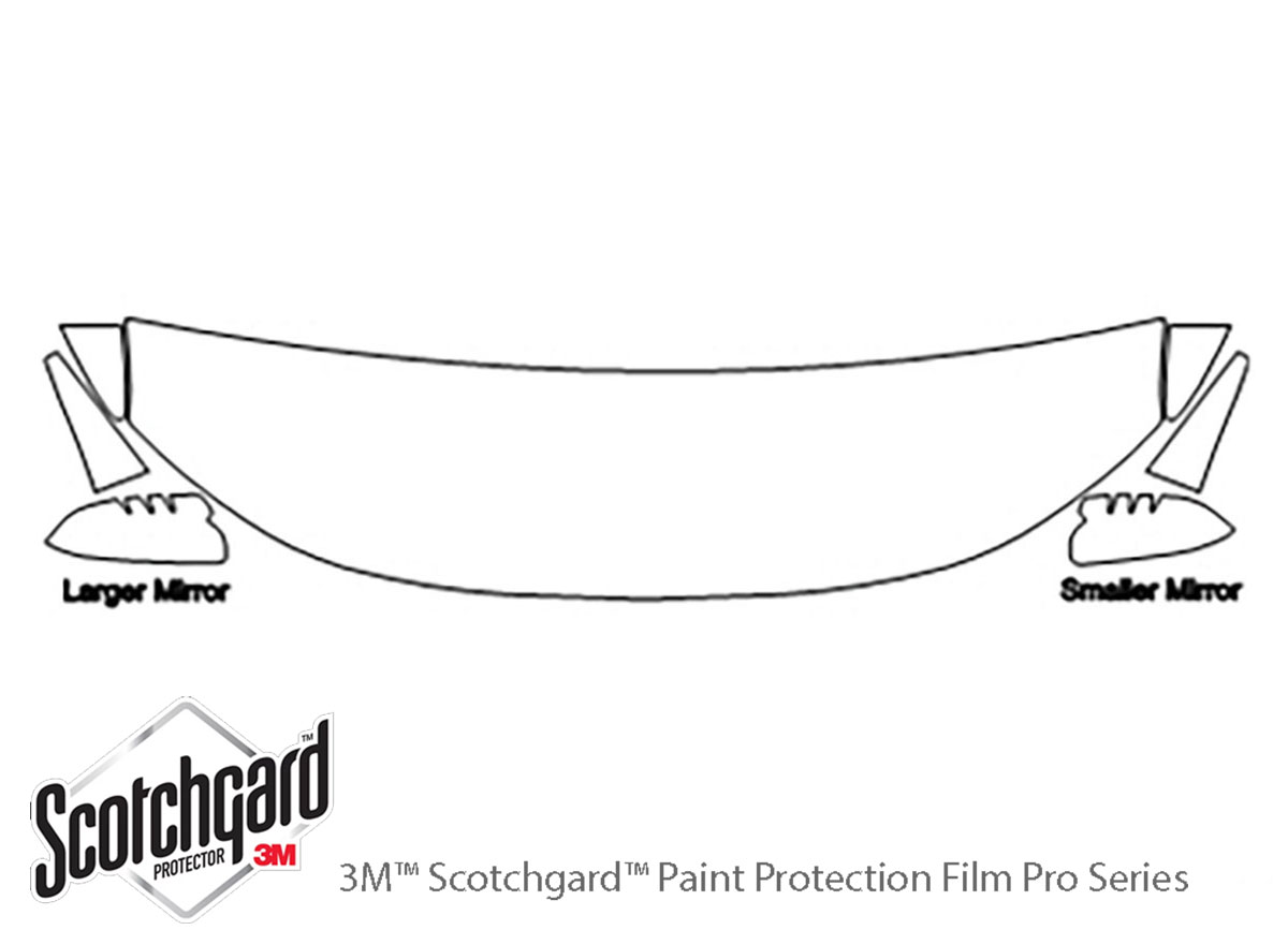 Ford Edge 2011-2014 3M Clear Bra Hood Paint Protection Kit Diagram