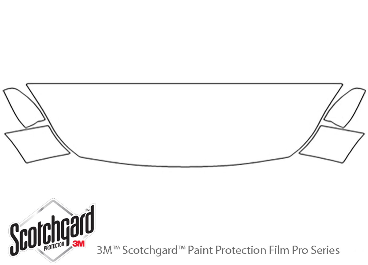 Ford Escape 2013-2016 3M Clear Bra Hood Paint Protection Kit Diagram