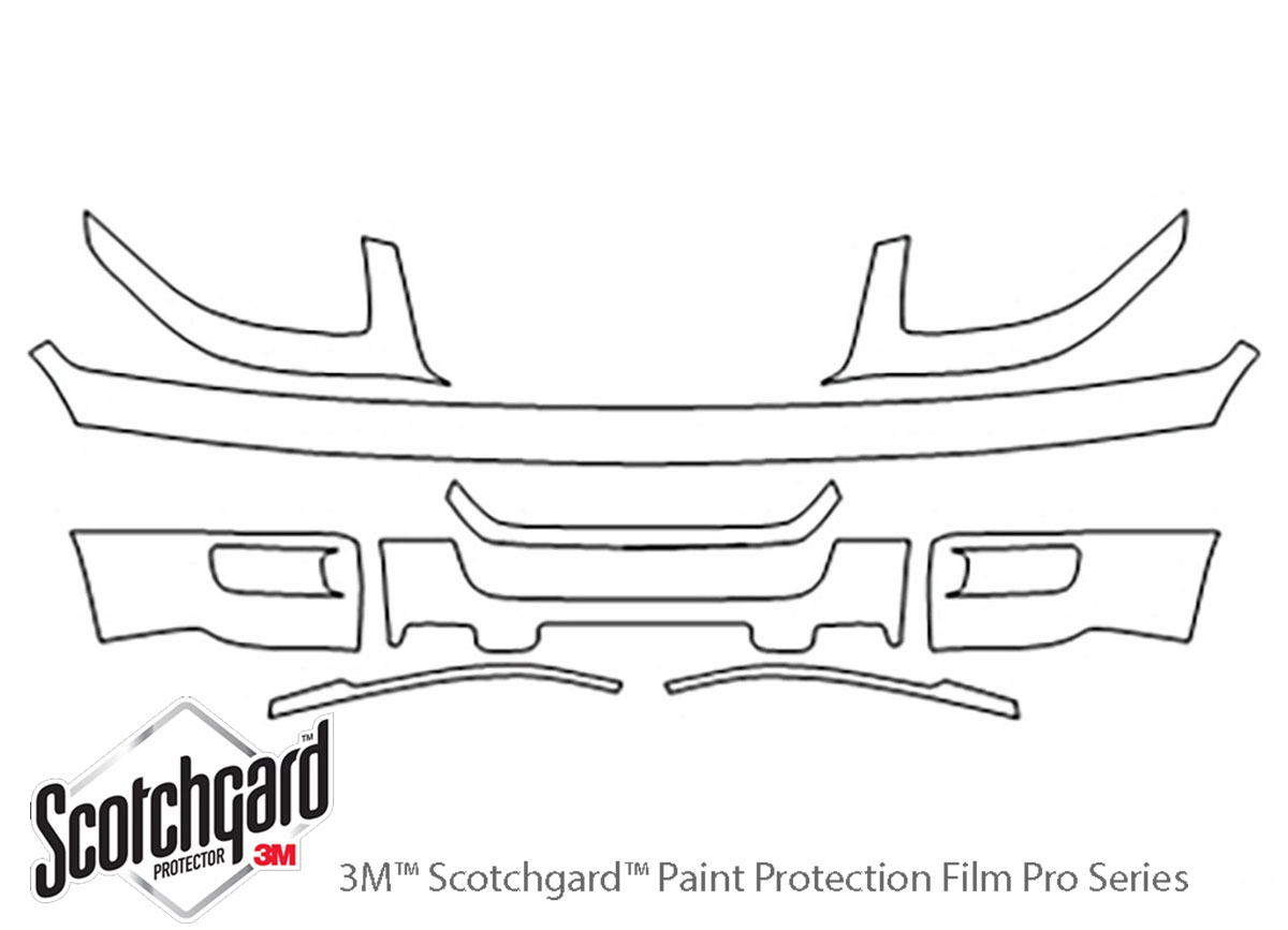 Ford Expedition 2003-2006 3M Clear Bra Bumper Paint Protection Kit Diagram