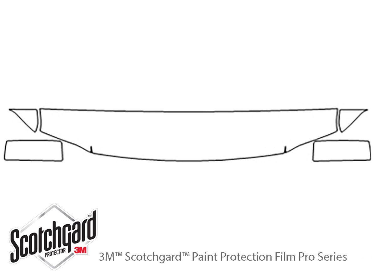 Ford Expedition 2003-2006 3M Clear Bra Hood Paint Protection Kit Diagram