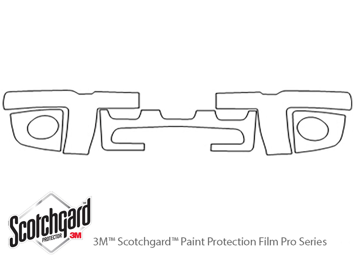 Ford Explorer 1998-2001 3M Clear Bra Bumper Paint Protection Kit Diagram