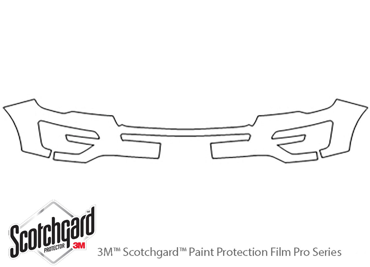 Ford Explorer 2016-2017 3M Clear Bra Bumper Paint Protection Kit Diagram