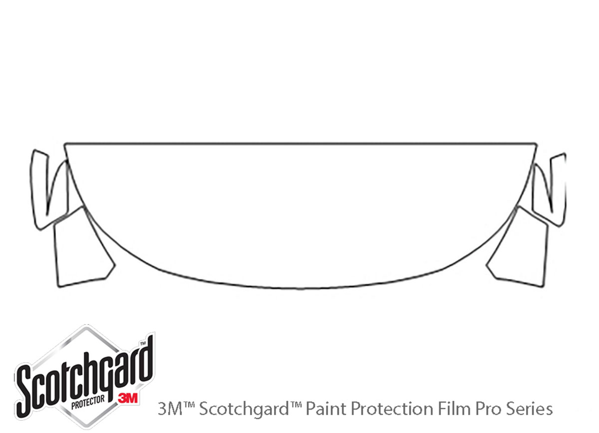 Ford Explorer 2016-2019 3M Clear Bra Hood Paint Protection Kit Diagram