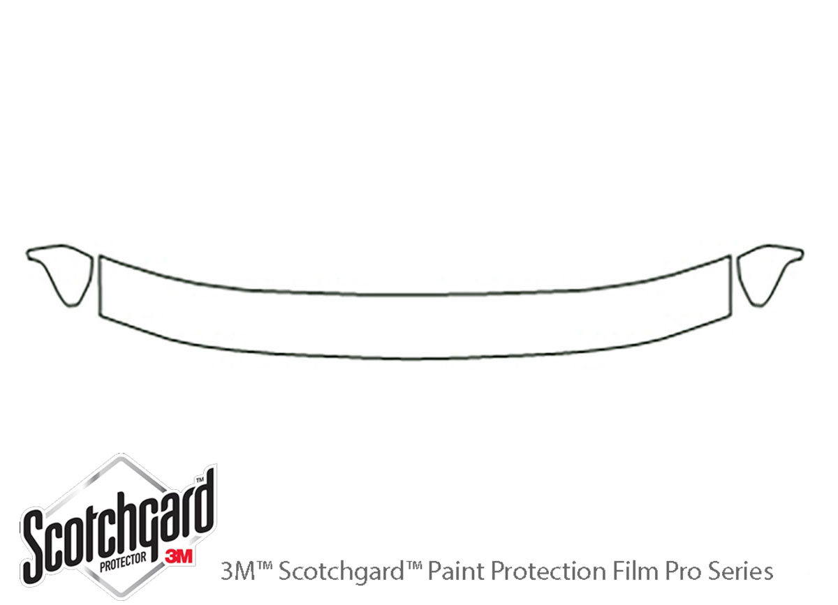 Ford F-150 1992-1996 3M Clear Bra Hood Paint Protection Kit Diagram
