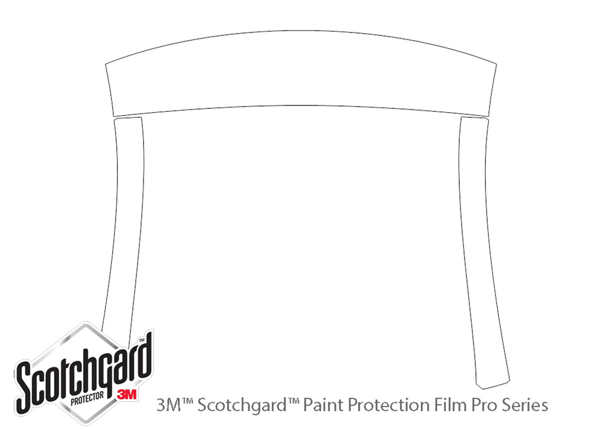 Ford F-250 2017-2021 3M Clear Bra Roof & A-Pillar Paint Protection Kit Diagram