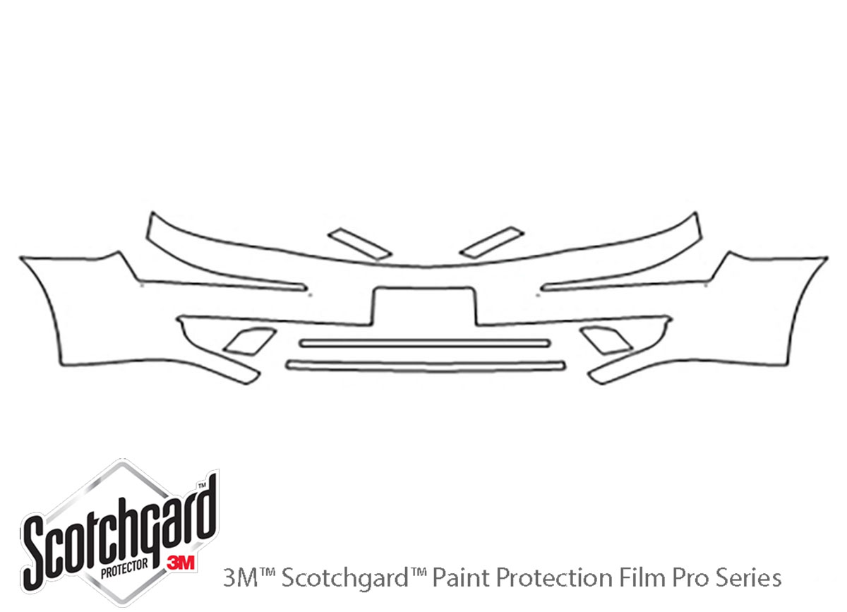 Ford Five Hundred 2005-2007 3M Clear Bra Bumper Paint Protection Kit Diagram