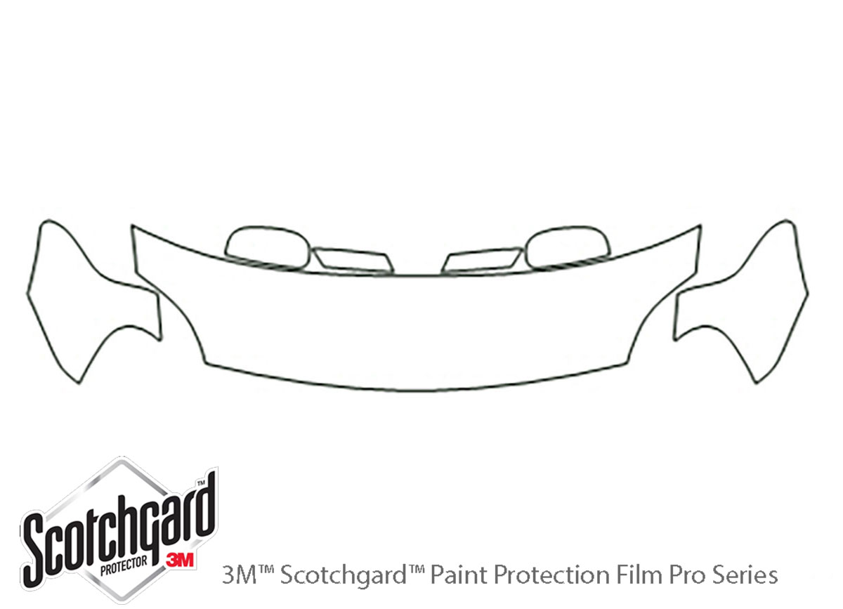 Ford Five Hundred 2005-2007 3M Clear Bra Hood Paint Protection Kit Diagram