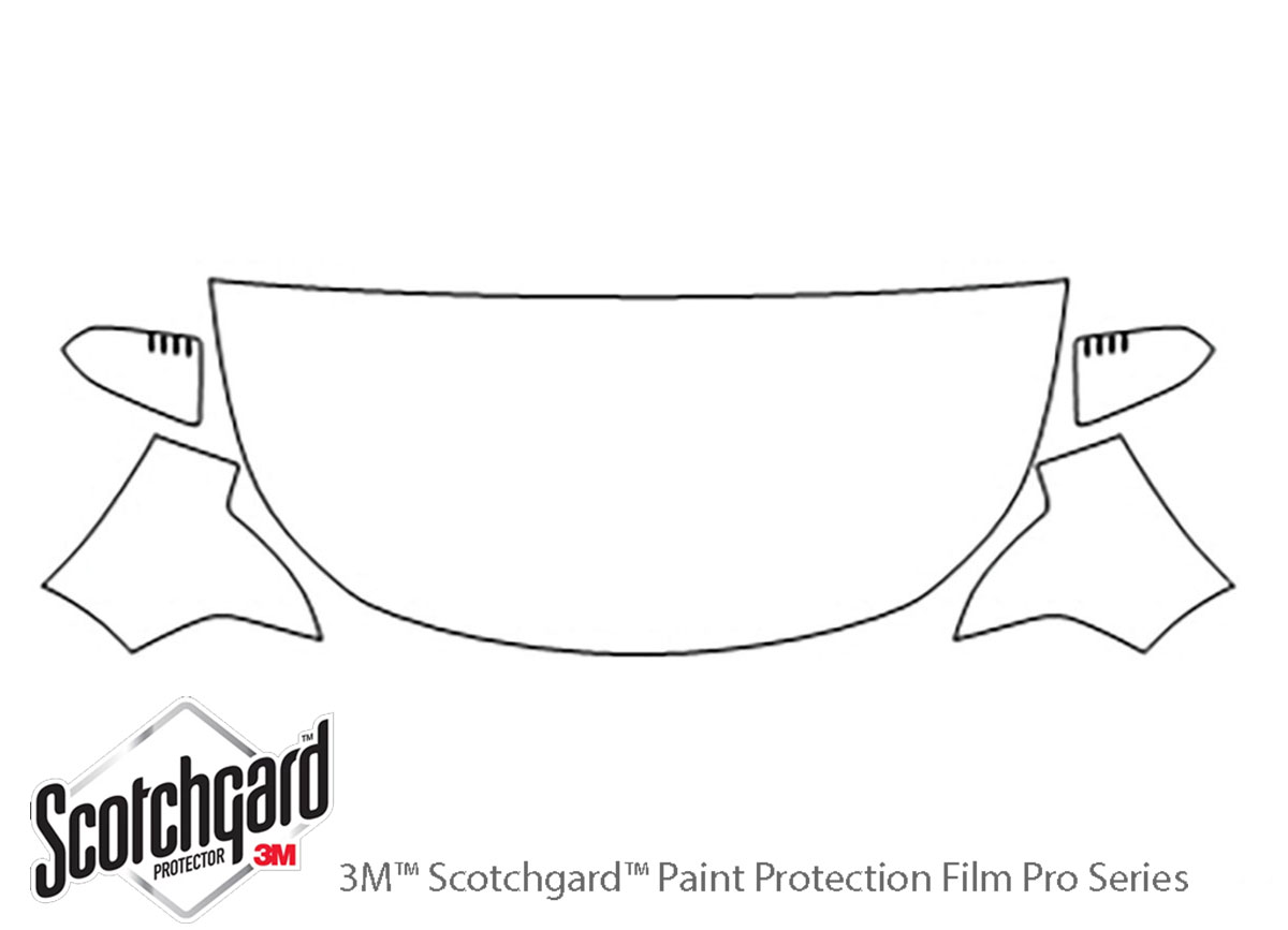 Ford Focus 2008-2011 3M Clear Bra Hood Paint Protection Kit Diagram