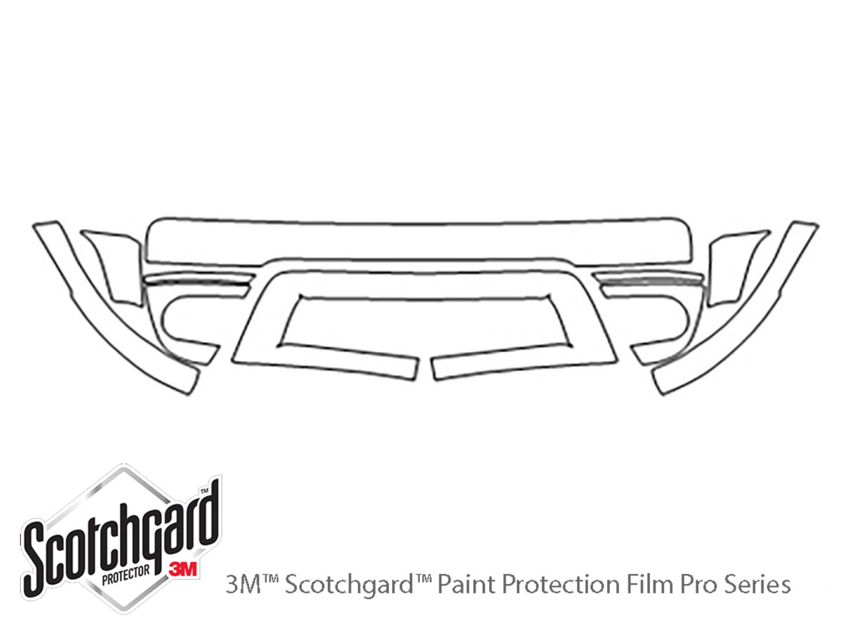 Ford Freestyle 2005-2007 3M Clear Bra Bumper Paint Protection Kit Diagram