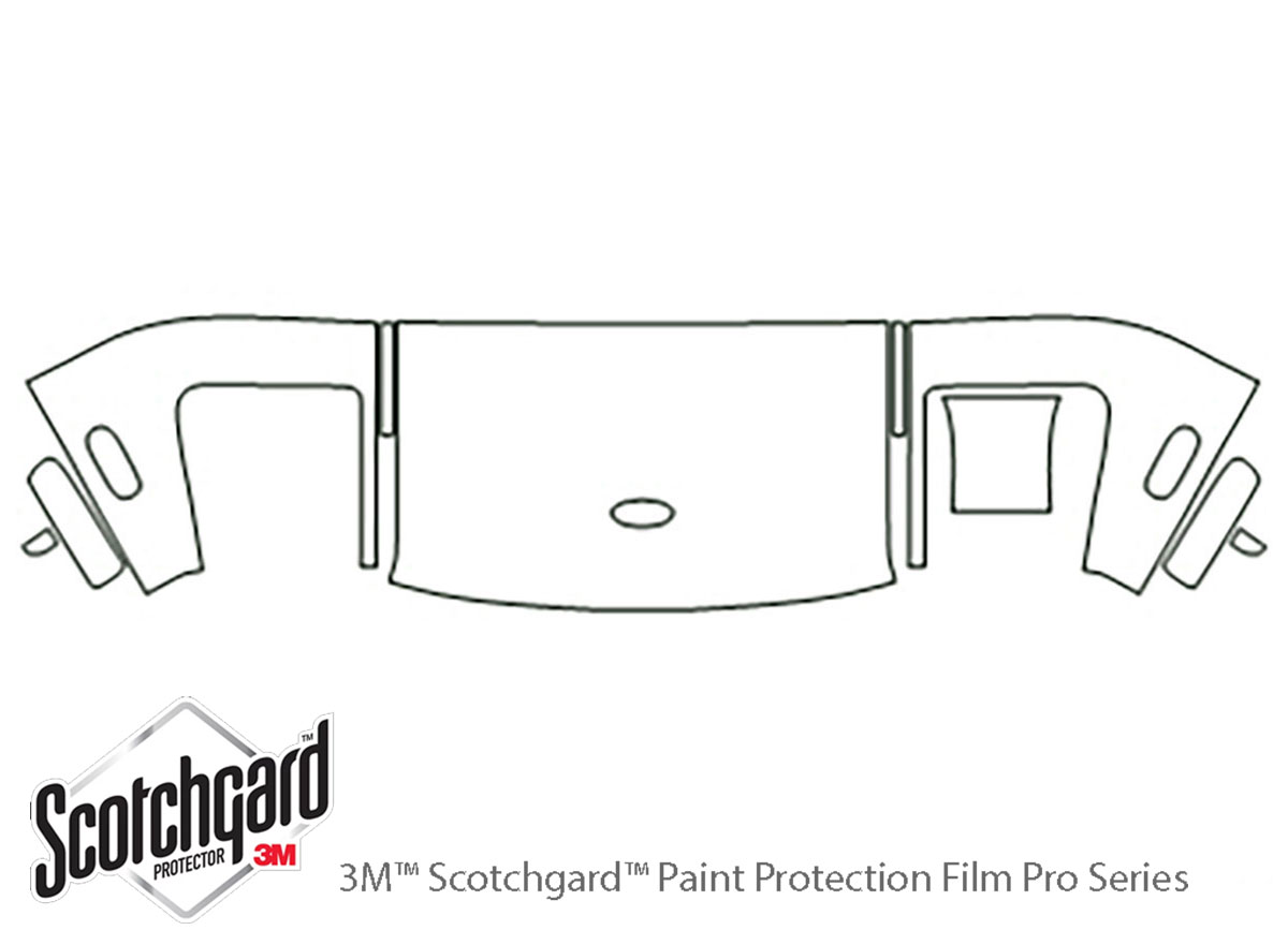 Ford GT 2005-2006 3M Clear Bra Hood Paint Protection Kit Diagram