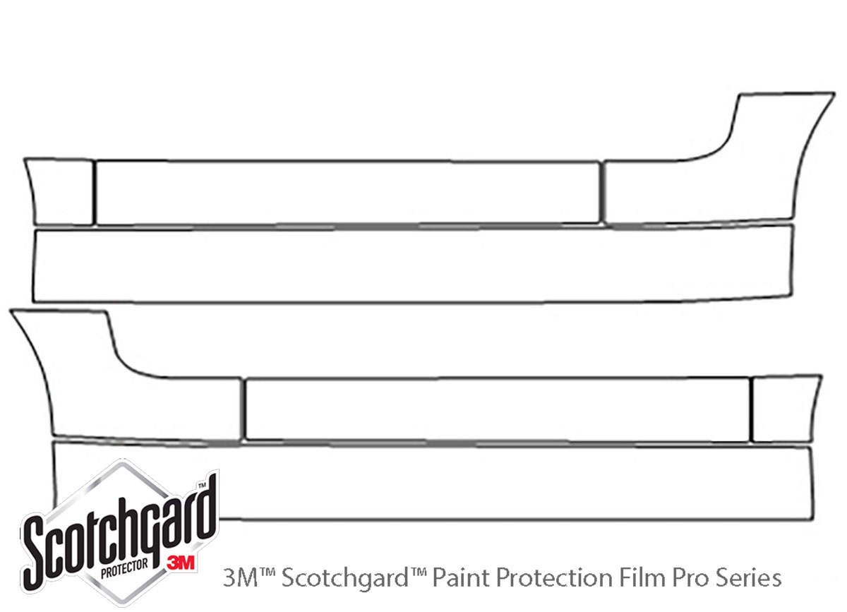 Ford GT 2005-2006 3M Clear Bra Door Cup Paint Protection Kit Diagram