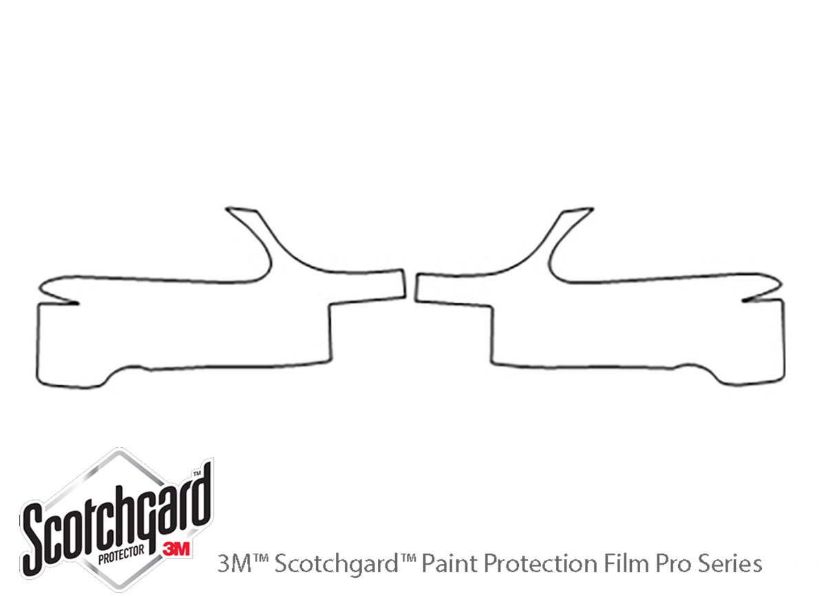 Ford Mustang 1994-1998 3M Clear Bra Bumper Paint Protection Kit Diagram