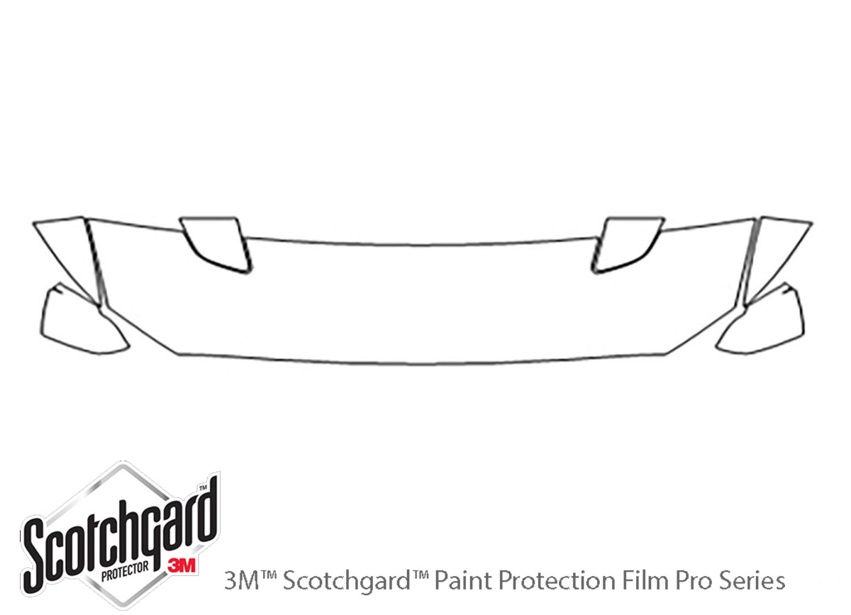 Ford Mustang 2015-2017 3M Clear Bra Hood Paint Protection Kit Diagram