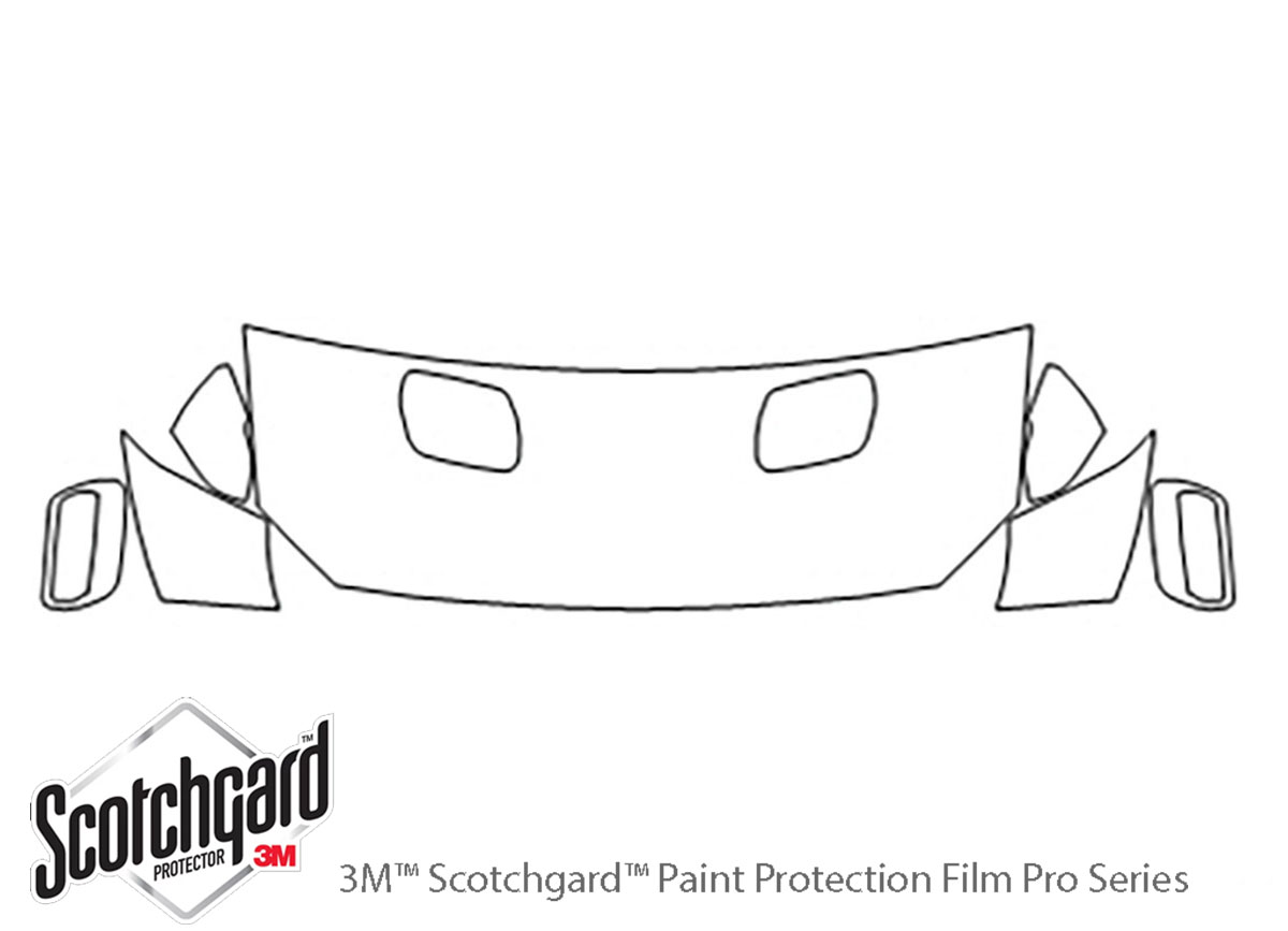 Ford Mustang 2018-2020 3M Clear Bra Hood Paint Protection Kit Diagram
