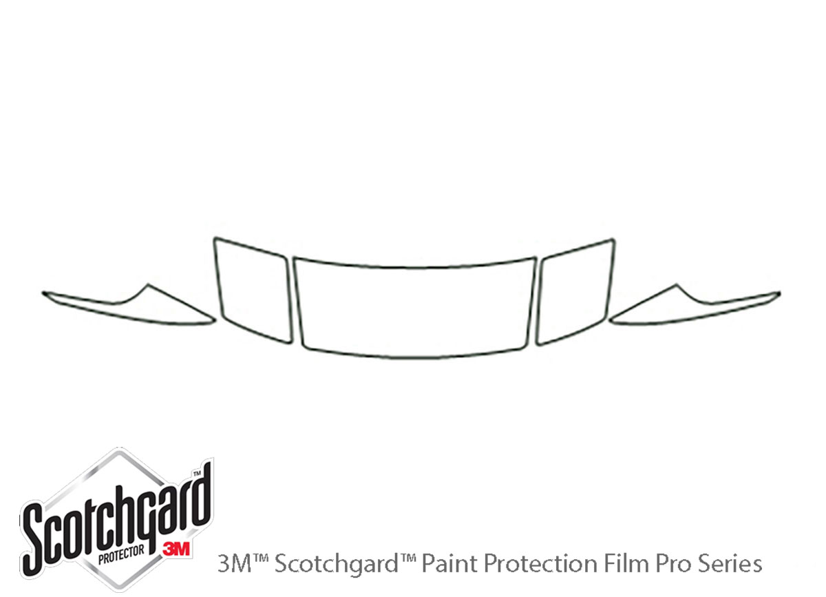 Ford Probe 1993-1997 3M Clear Bra Hood Paint Protection Kit Diagram