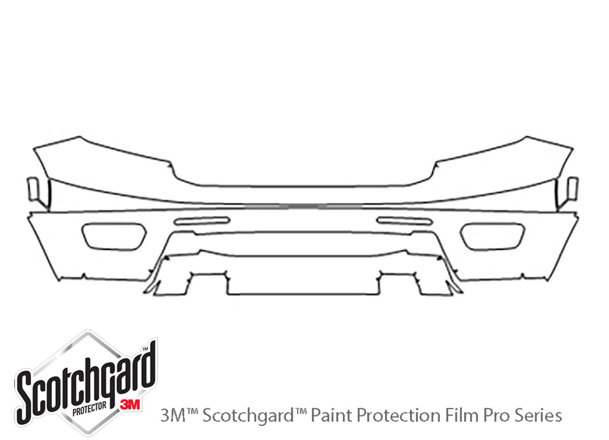 Ford Ranger 2019-2021 3M Clear Bra Bumper Paint Protection Kit Diagram