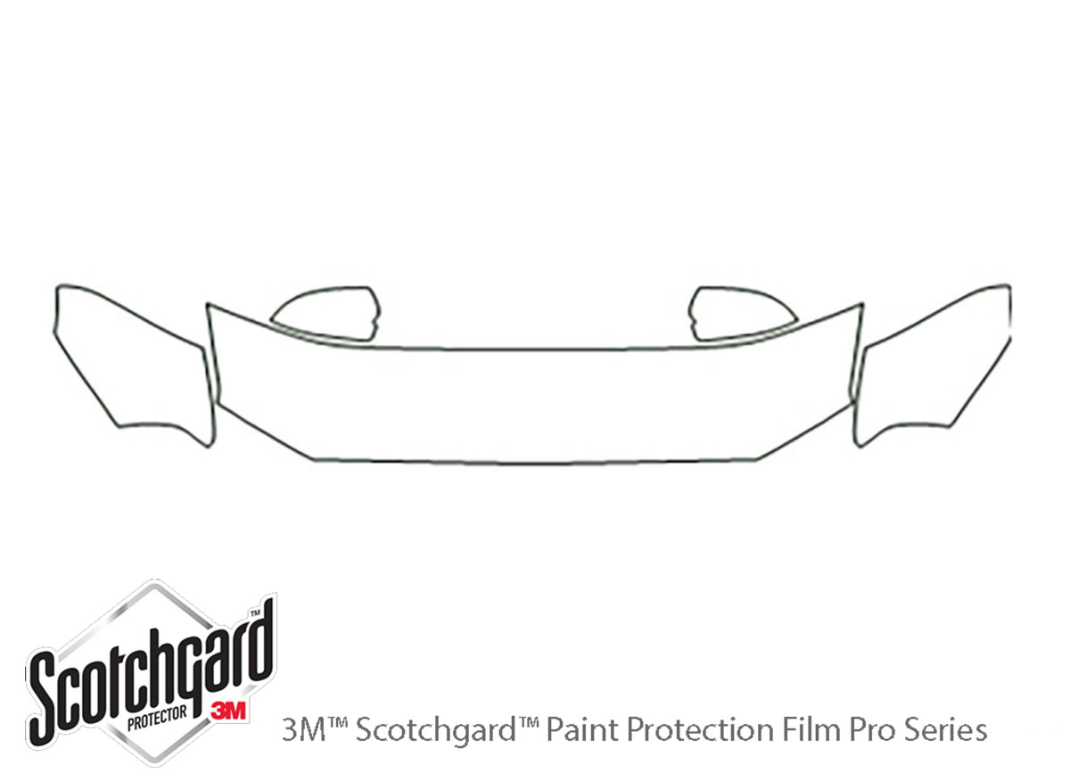 Ford Shelby GT500 2010-2012 3M Clear Bra Hood Paint Protection Kit Diagram