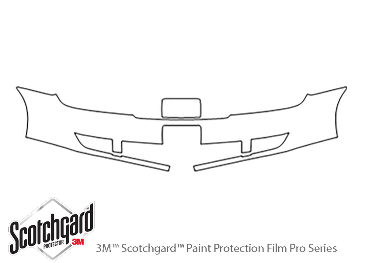 Ford Taurus 2008-2009 3M Clear Bra Bumper Paint Protection Kit Diagram