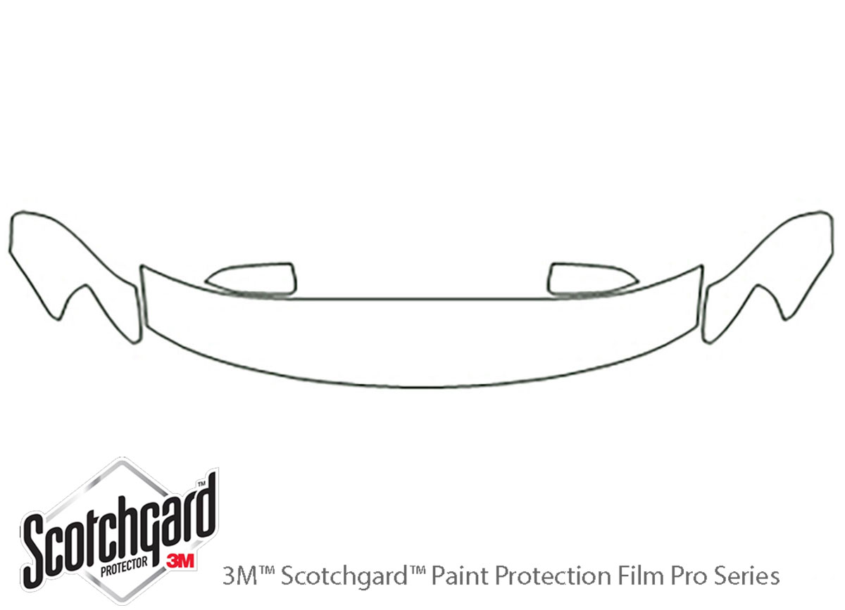 Ford Taurus 2008-2009 3M Clear Bra Hood Paint Protection Kit Diagram