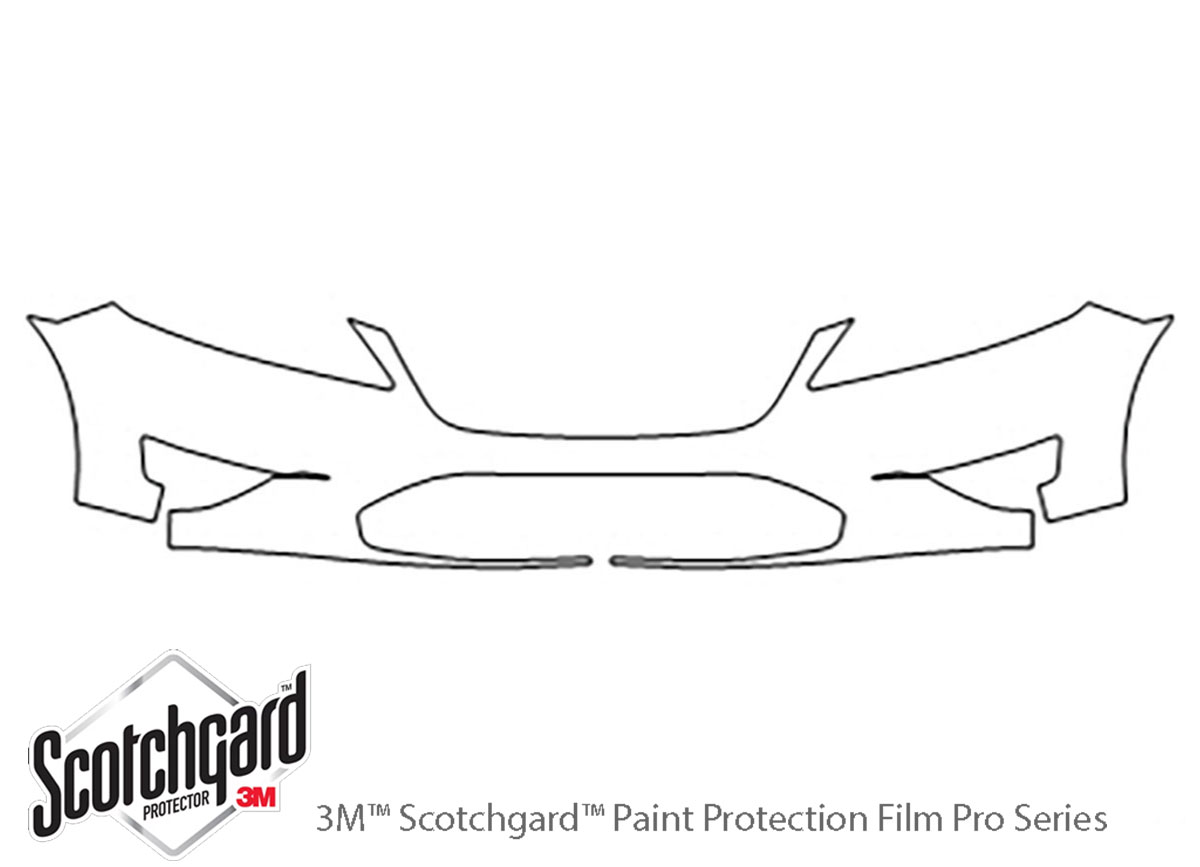 Ford Taurus 2010-2012 3M Clear Bra Bumper Paint Protection Kit Diagram