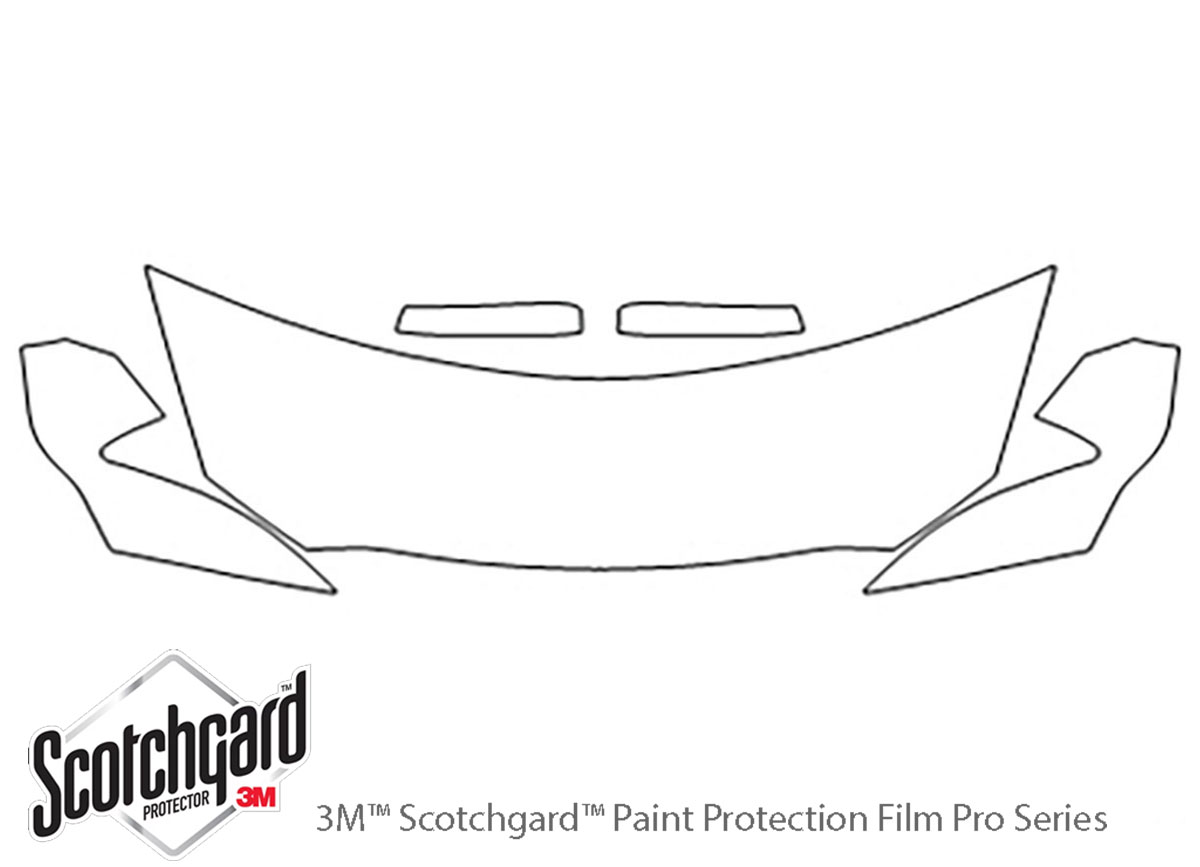 Ford Taurus 2010-2012 3M Clear Bra Hood Paint Protection Kit Diagram