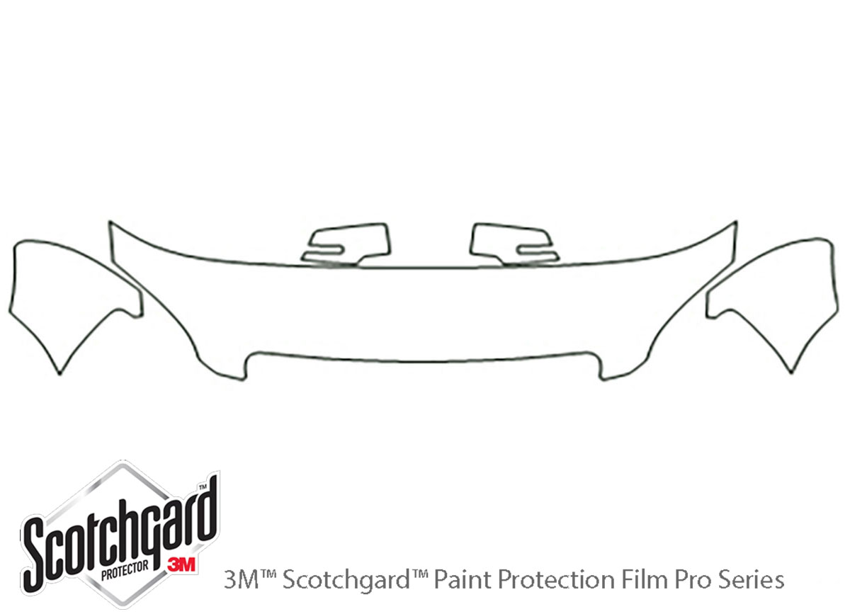 GMC Acadia 2007-2012 3M Clear Bra Hood Paint Protection Kit Diagram