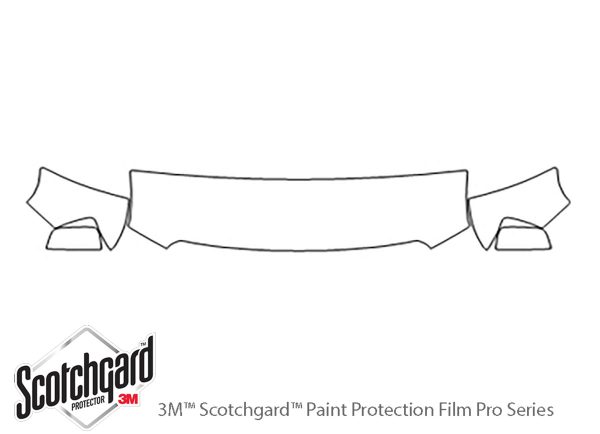 GMC Canyon 2015-2020 3M Clear Bra Hood Paint Protection Kit Diagram