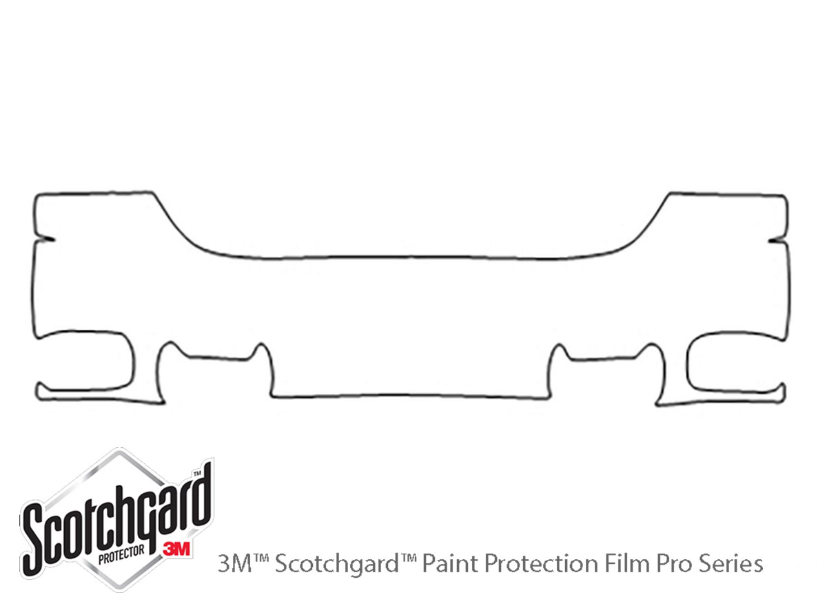 GMC Yukon 1999-2000 3M Clear Bra Bumper Paint Protection Kit Diagram