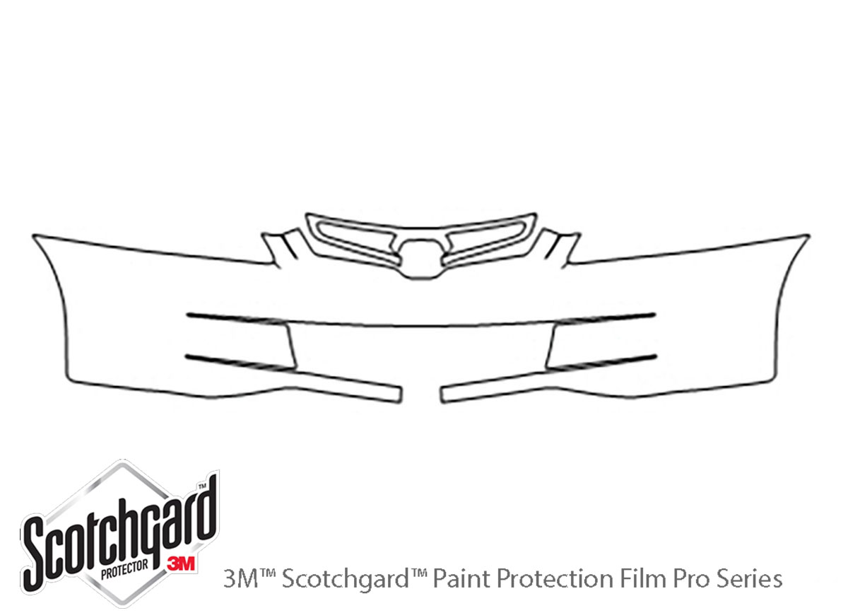 Honda Accord 2003-2005 3M Clear Bra Bumper Paint Protection Kit Diagram