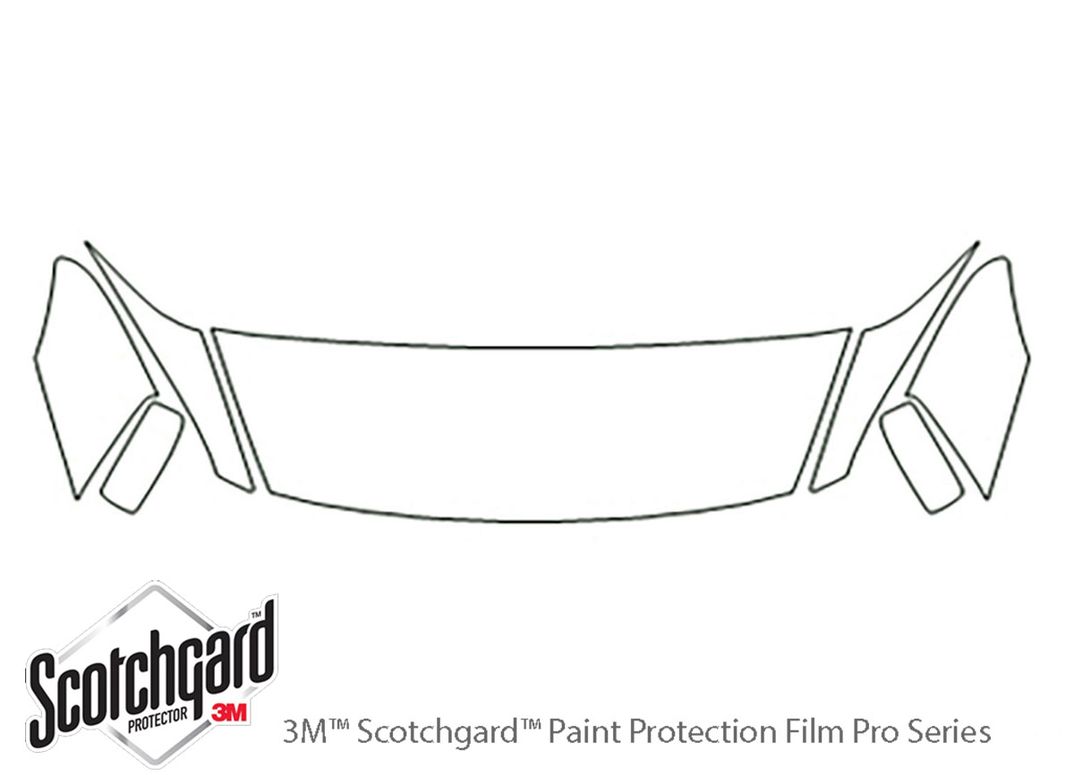 Honda Accord 2003-2007 3M Clear Bra Hood Paint Protection Kit Diagram