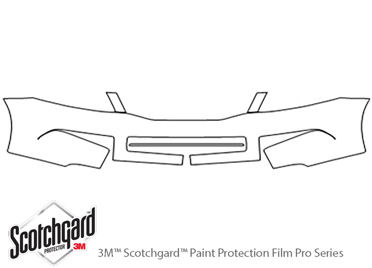 Honda Accord 2008-2012 3M Clear Bra Bumper Paint Protection Kit Diagram