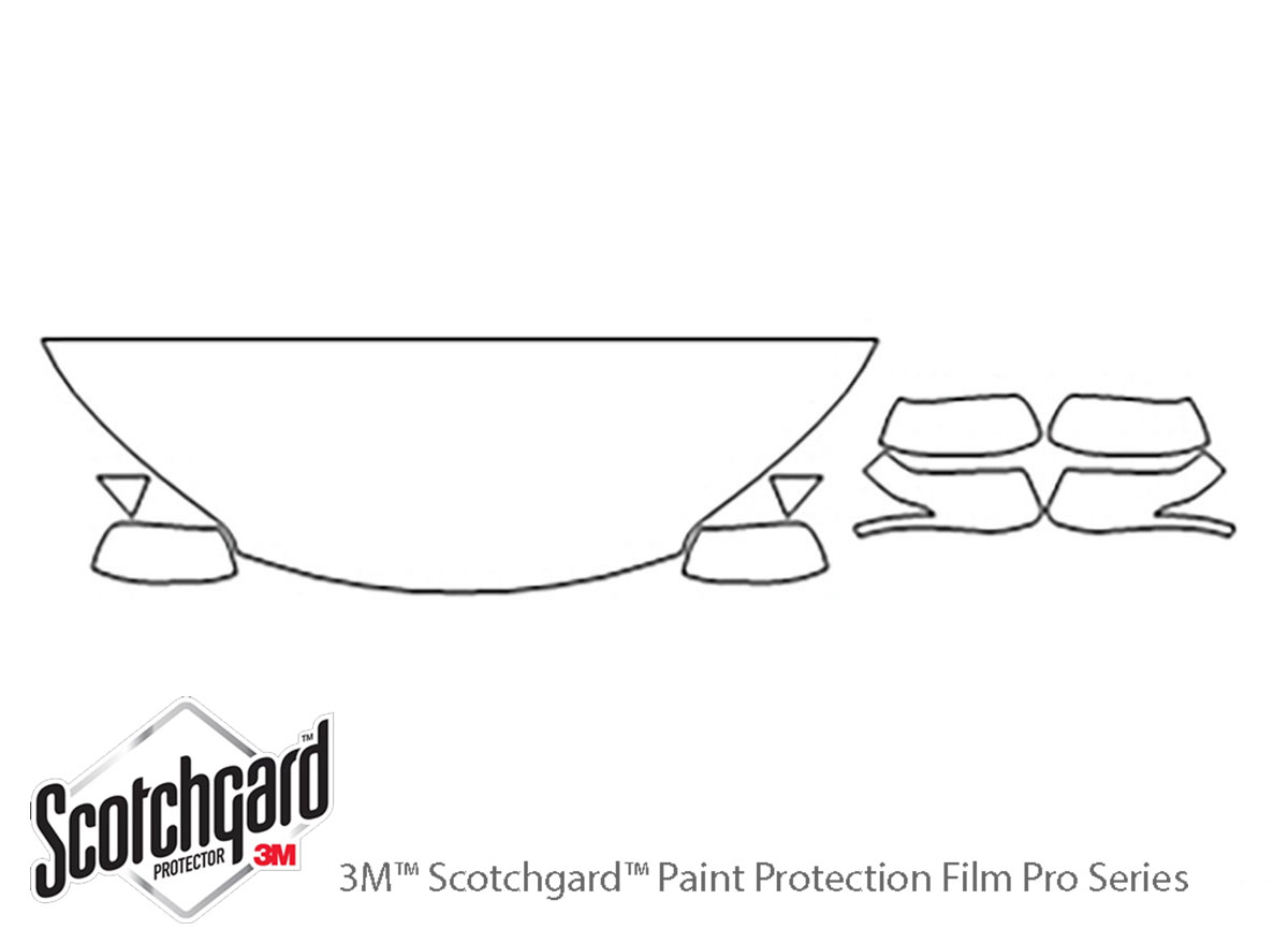 Honda CR-V 2012-2016 3M Clear Bra Hood Paint Protection Kit Diagram