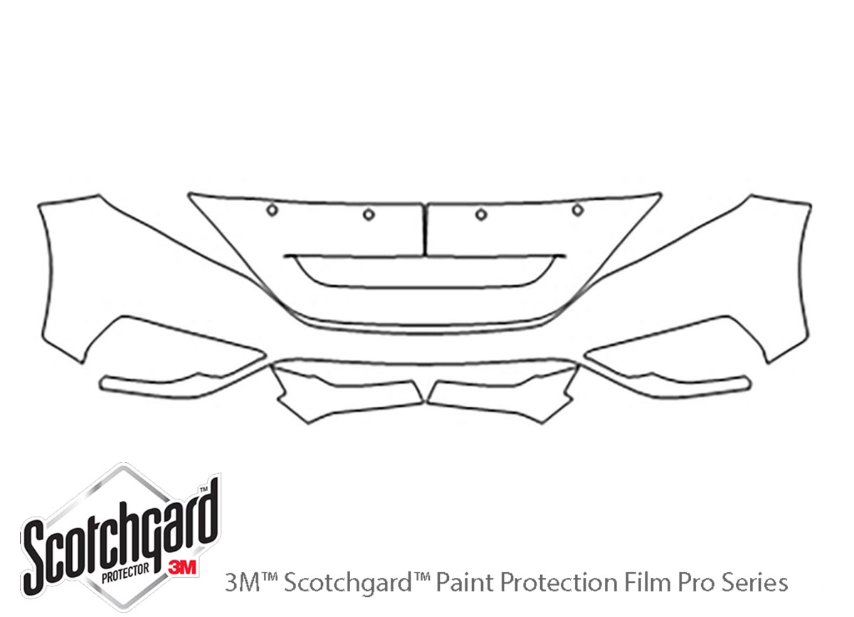 Honda CR-V 2015-2016 3M Clear Bra Bumper Paint Protection Kit Diagram