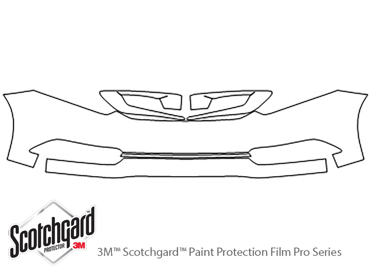 Honda Civic 2012-2015 3M Clear Bra Bumper Paint Protection Kit Diagram