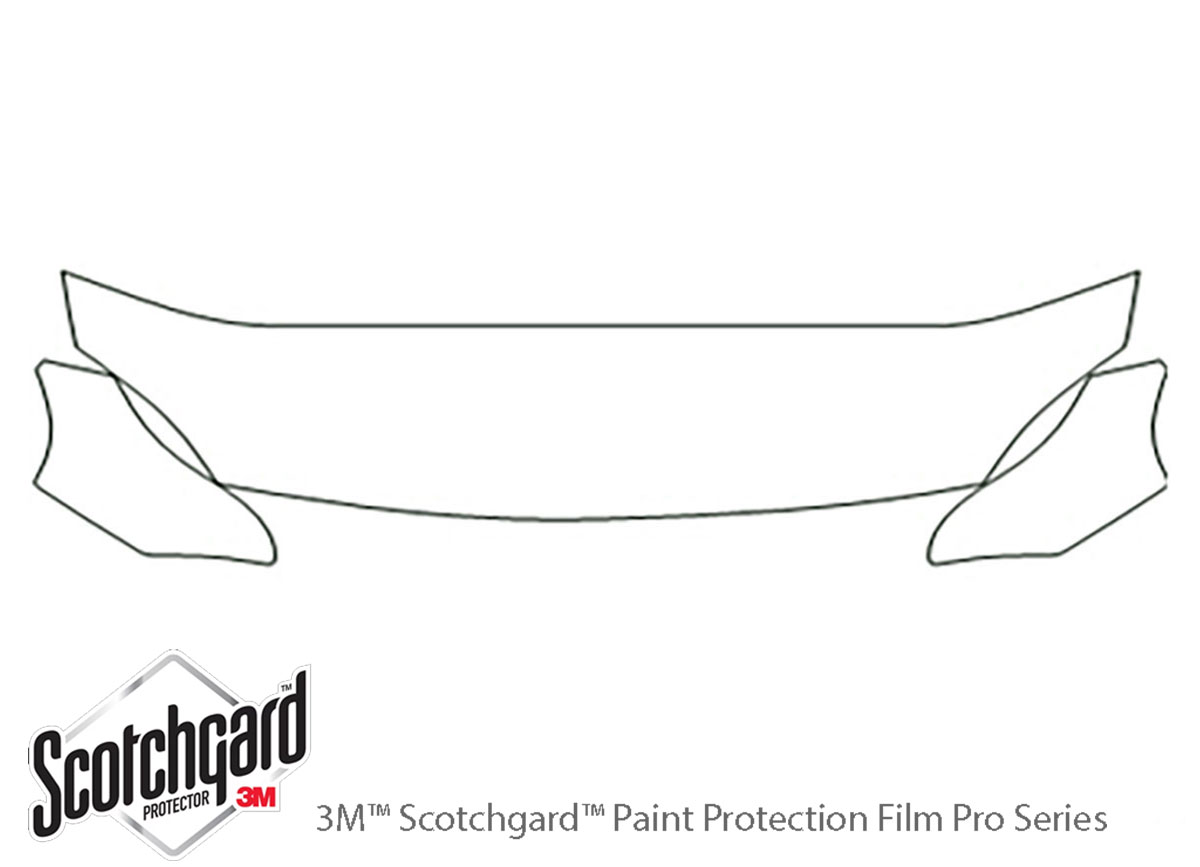 Honda Del Sol 1993-1997 3M Clear Bra Hood Paint Protection Kit Diagram
