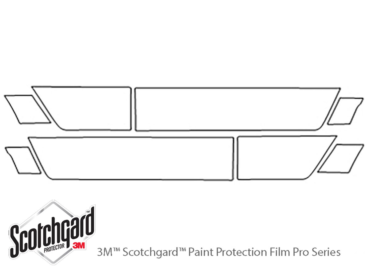 Honda Element 2009-2011 3M Clear Bra Door Cup Paint Protection Kit Diagram