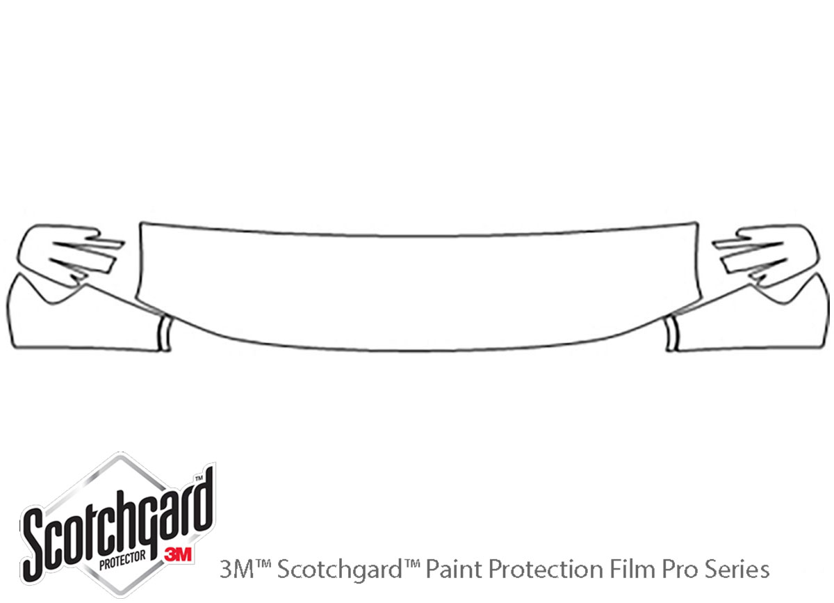 Honda Element 2009-2011 3M Clear Bra Hood Paint Protection Kit Diagram
