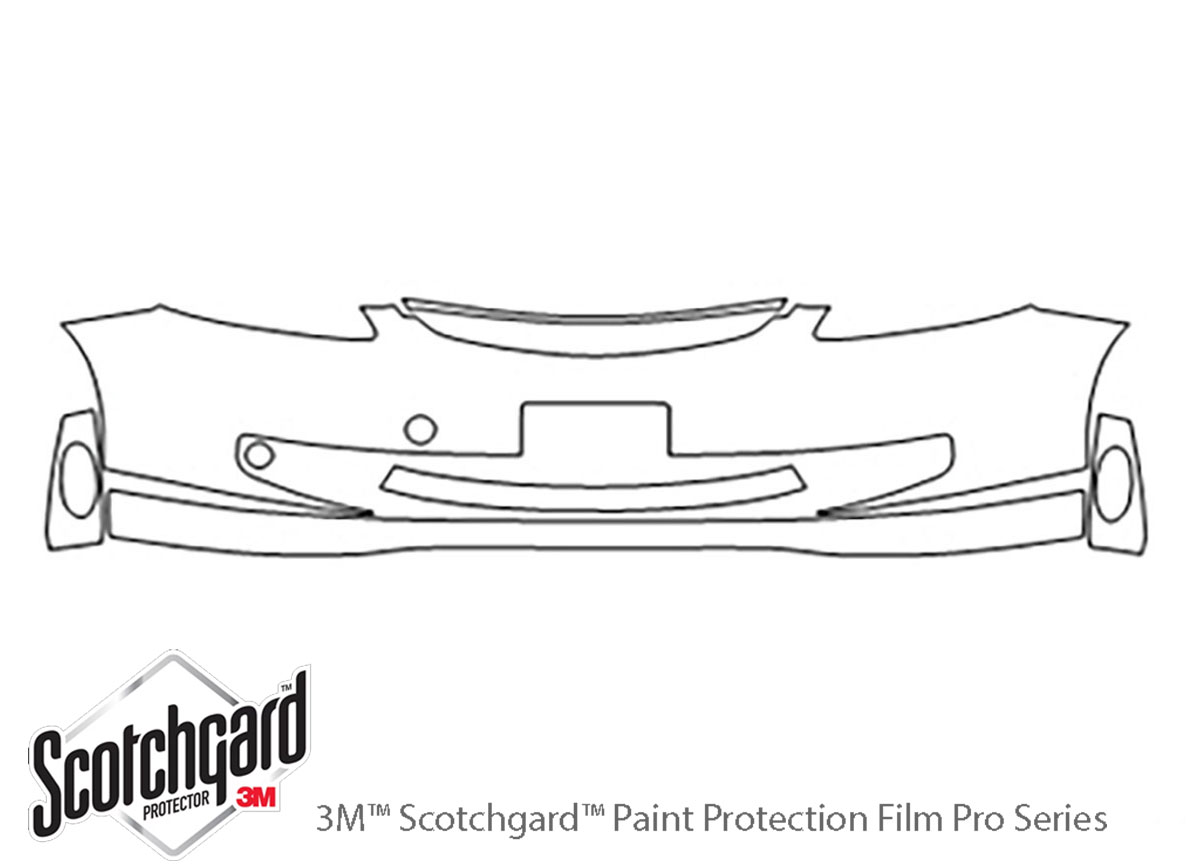 Honda Fit 2007-2008 3M Clear Bra Bumper Paint Protection Kit Diagram