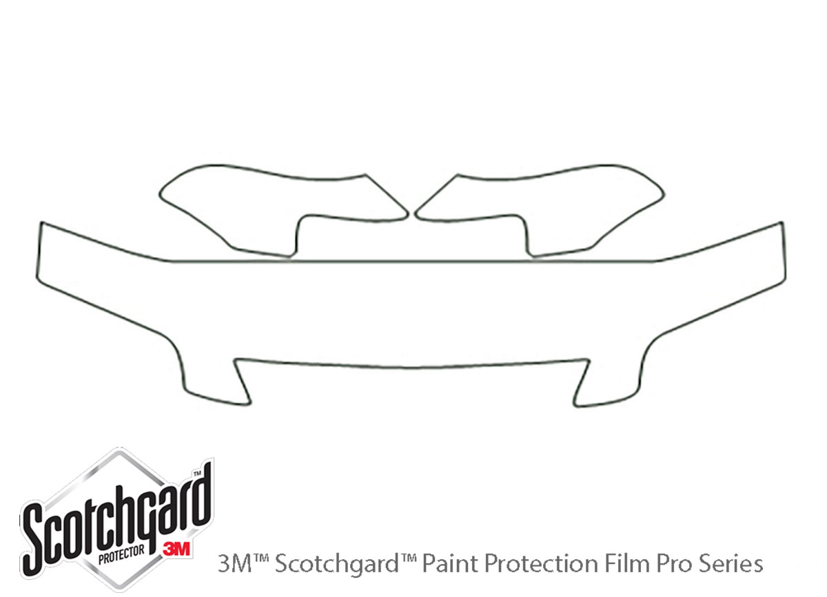 Honda Odyssey 1995-1998 3M Clear Bra Hood Paint Protection Kit Diagram