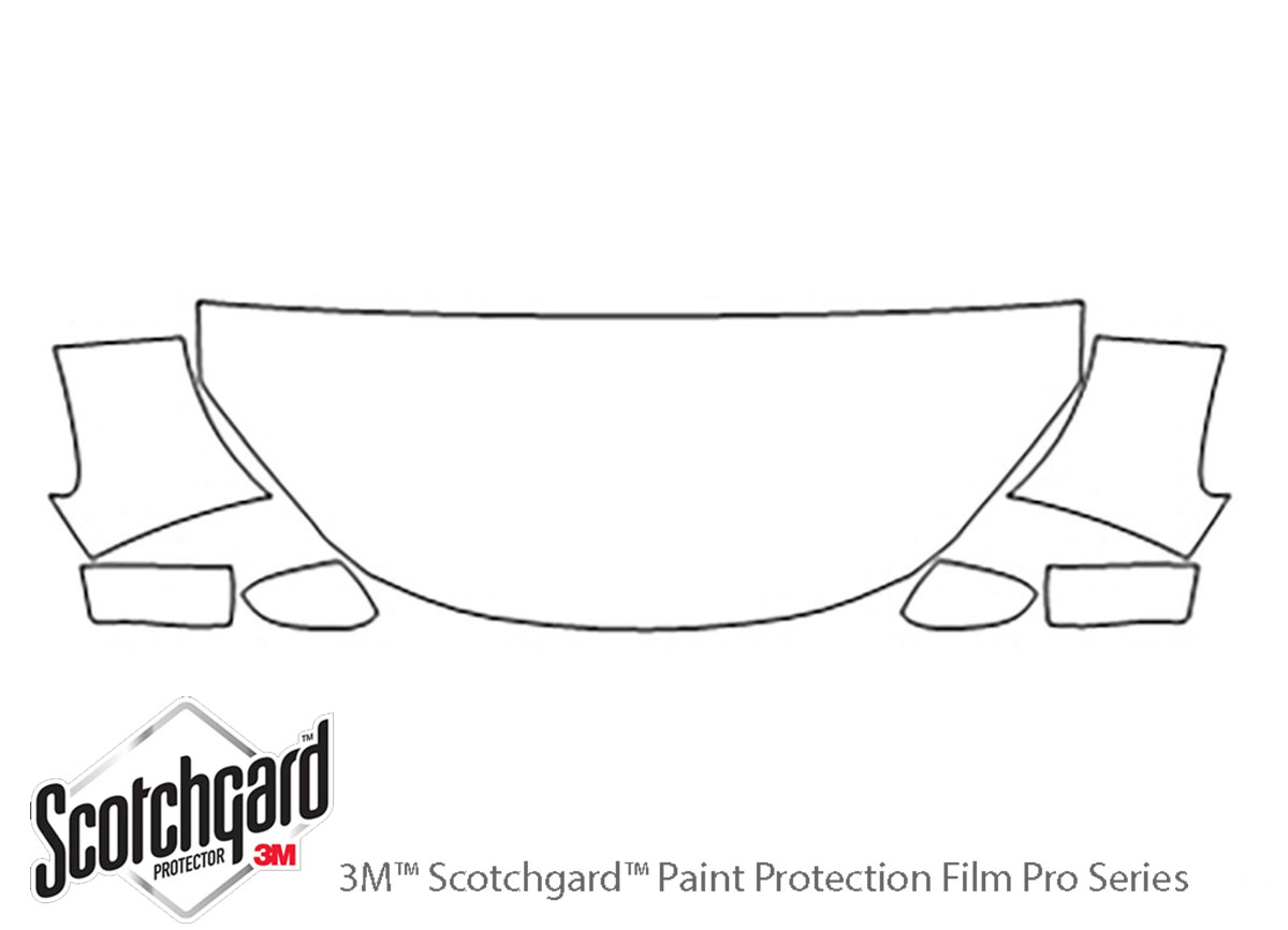 Honda Odyssey 2008-2010 3M Clear Bra Hood Paint Protection Kit Diagram
