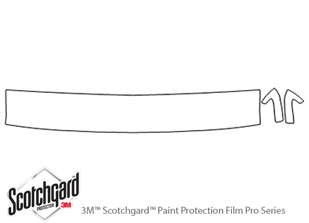 Honda Passport 1994-1997 3M Clear Bra Hood Paint Protection Kit Diagram